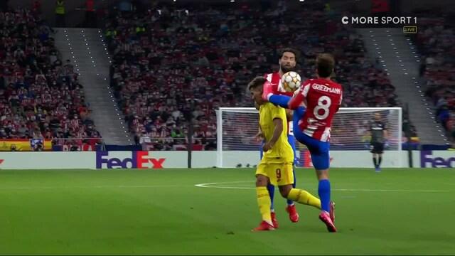 Mestarien liiga, Griezmannilta holtiton potku suoraan Roberto Firminon päähän - tuloksena suora punainen