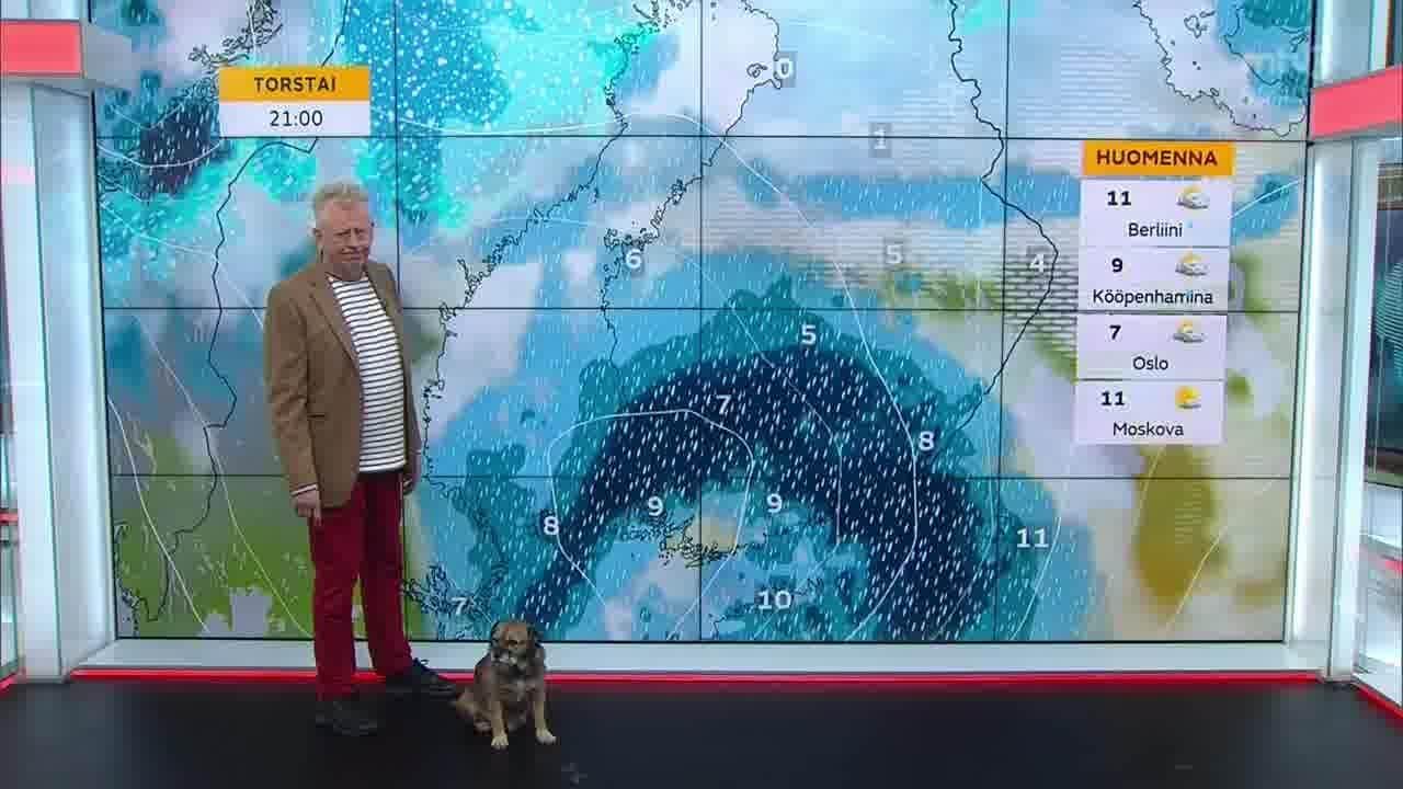 Uutisaamun sää, Torstai 21.10. Tänään sataa vain paikoin. Illaksi uusi rankkasade etelään