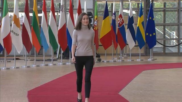 """MTV Uutiset Live, Pääministeri Marin kommentoi EU-huippukokousta: """"Puola-kysymyksessä pitää olla hyvin tiukka"""""""