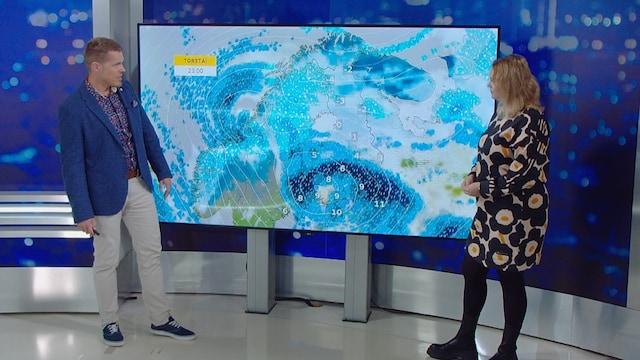 MTV Uutiset Live, Myrskymatalapaine saapumassa Suomeen torstai-illaksi ja perjantaiksi – meteologi kertoo, miten kovaa myräkkää on luvassa