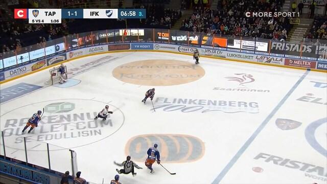 Liiga, Reagoiko SM-liigan kurinpito? Tapparan Patrik Virta kaatoi linjatuomarin selkäpuolelta HIFK-ottelun tuoksinassa
