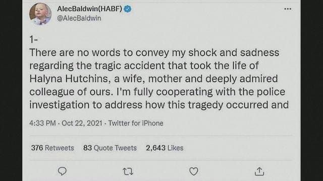 MTV Uutiset Live, Näyttelijä Alec Baldwin kommentoi Rust-elokuvan kuvauksissa tapahtunutta ampuma-ase onnettomuutta ensimmäistä kertaa