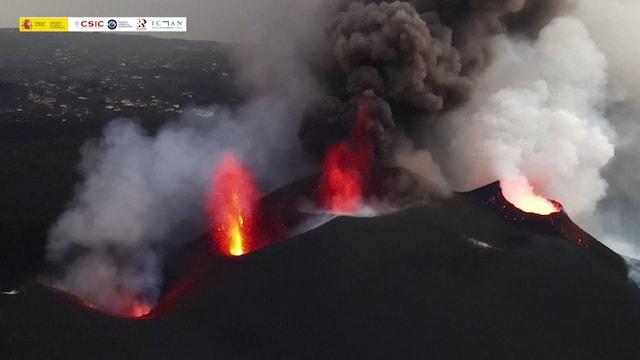 Uutisklipit, La Palman tulivuorenpurkauksesta julkaistu uusia videoita