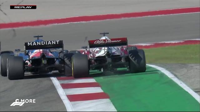 Formula 1: USA:n GP, Räikkönen ja Alonso ottavat yhteen - suomalaiskuskin etusiipi saa osumaa