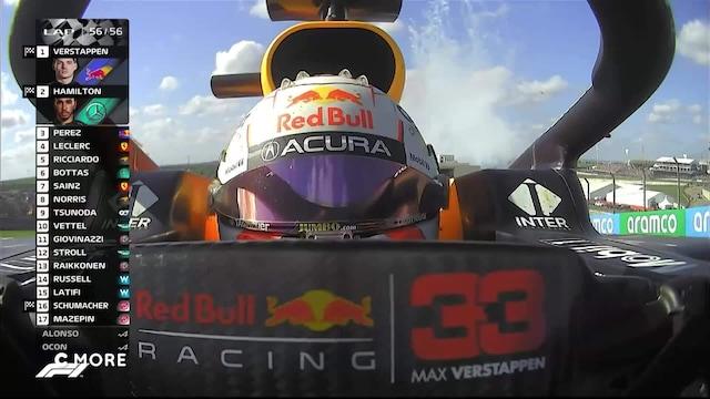 Formula 1: USA:n GP, Viimeinen kierros: Hamiltonin takaa-ajo ei onnistu, Verstappen ajaa voittoon