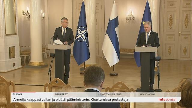 Uutisjutut: Kotimaa, Sotilasliitto Naton ovi on yhä auki Suomelle, sanoi pääsihteeri Suomen vierailullaan