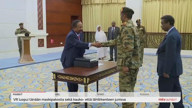 Uutisjutut: Ulkomaat, Sudanissa on käynnissä sotilasvallankaappaus