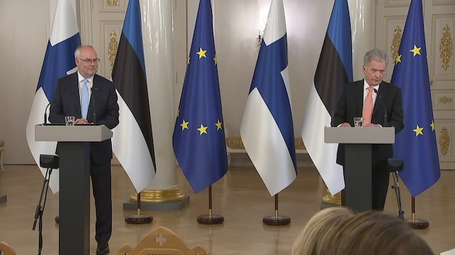 MTV Uutiset Live, Viron presidentti ensivierailulla Suomessa – katso Alar Karisin ja Sauli Niinistön tiedotustilaisuus
