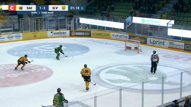 Liiga, Ilves tekee 1-4 maalin tyhjään maaliin